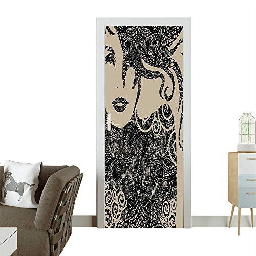Door Sticker Wall Decals Cool Posing Wavy Sexy