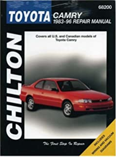 Toyota camry automotive repair manual all toyota camry and avalon toyota camry 1983 96 repair manual chiltons total car care fandeluxe Choice Image