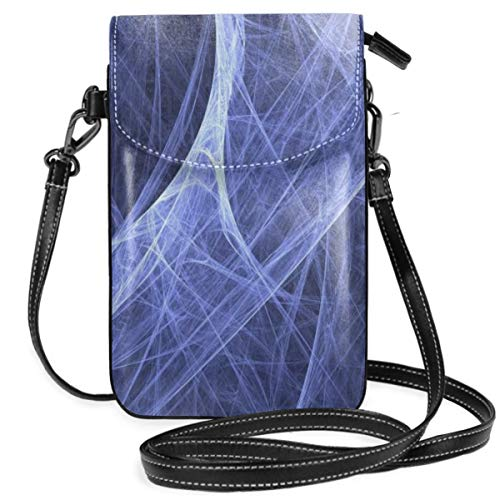 Small Cell Phone Purse For Women Leather Cool Spider Web Insides Card Slots Crossbody Bags Wallet Shoulder Bag -