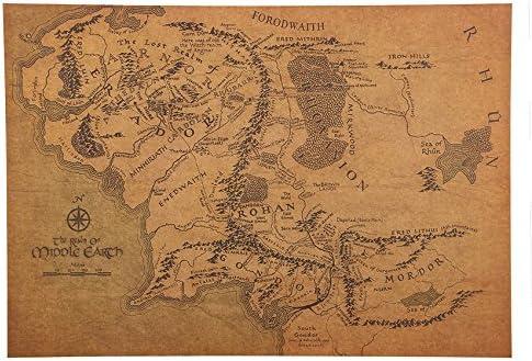 seigneur des anneaux carte WAY2BB   Carte Vintage de la Terre du Milieu Seigneur des Anneaux