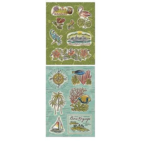 (Paradise Embossed Glitter Scrapbook Stickers (ST0867) )