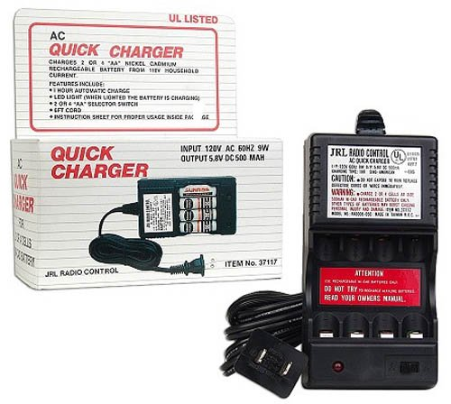 ac-quick-charger-for-ni-cad-500mah-aa-batteries-with-6-power-cord
