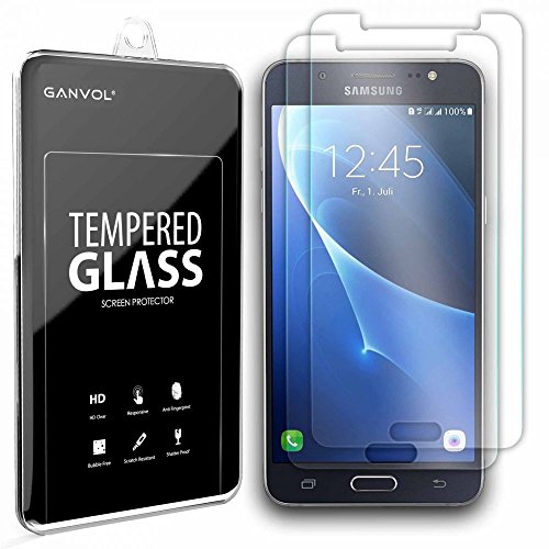 Ganvol, 2 Pack, Premium Tempered Glass Screen Protector for J5 2016 / J5 DUOS / J5 2016 DUAL SIM / J510 / SM-J510FZDNXEF / SM-J510FZKNXEO / - 2016 Glasses