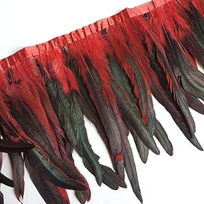 Lote de 5 ribetes de flecos de plumas para decoraci/ón de vestidos y disfraces Sowder Rooster