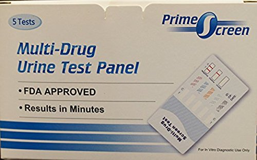 5 Pack Prime Screen 12 Panel Drug Test - Marijuana (THC),Cocaine (COC),OPI 2000,Methamphetamine (MET),Oxycodone (OXY),Amphetamine (AMP), Barbiturates (BAR), BZO, MTD, MDMA, PCP, PPX #WDOA-1124
