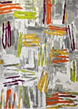 Home Dynamix Area Rugs: Tanja Rug 4785-999 Multi-Color Abstract Paint Splatter Modern Rug - Actual Size: 7' 10'' x 10' 2''