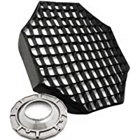 48 Octagon Softbox Soft Box Octbox Speedring Speed Ring and Honeycomb Grid for Alien Bees Alienbees Strobe Light AB8120GD