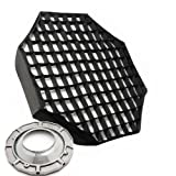 "48"" Octagon Softbox Soft Box Octbox Speedring Speed Ring and Honeycomb Grid for Alien Bees Alienbees Strobe Light AB8120GD"