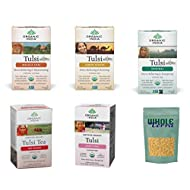 Organic India Tulsi Tea Best Sellers 5 Flavor Variety Pack (Pack of 5)