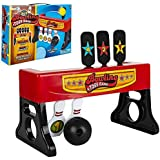 Gamie 2-in-1 Bowling and Tossing Game for Kids - Fun Indoor Carnival Game - Includes Base, Balls and Stickers - Durable Plastic - Cool Party Activity - Toss and Bowl Game for Toddlers, Boys, Girls