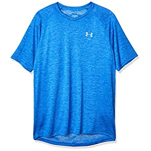 Best Epic Trends 51YyDimDP-L._SS300_ Under Armour Men's Tech 2.0 V-Neck Short Sleeve T-Shirt , Versa Blue (486)/Mod Gray , Small