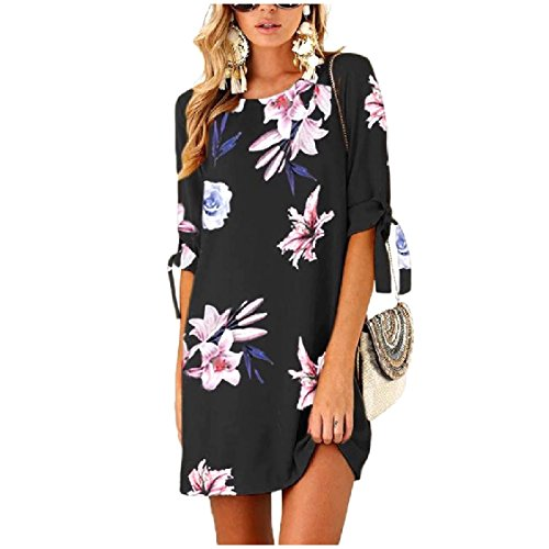 Top Round up Printed Tunic Half Lace Sleeve Women Dress As8 Collar Coolred Casual wTOYzqY