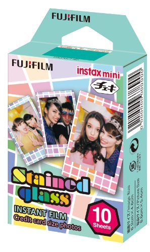 Fujifilm Instax Mini Stained Glass Instant Film (Multi-Color) (Stained Glass Film)