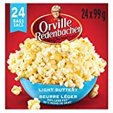 Orville Redenbacher's Microwave Popcorn, Light Buttery - 24 Individual Bags, 2376 Grams