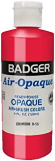 product image for Badger Air-Brush Company Air-Opaque Airbrush Ready Water Based Acrylic Paint, Crimson, 4-Ounce