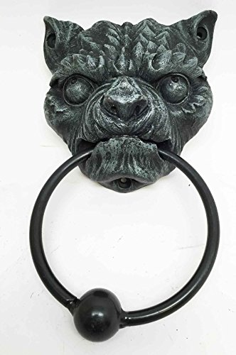 Gargoyle Ball (BULLDOG ANGRY GARGOYLE DOOR KNOCKER METAL RING KNOCKER BALL SCULPTURE)