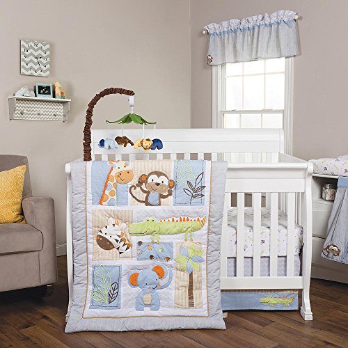 Jungle Fun Animal Baby Bedding Collection by Trend Lab 6 pc. Crib Set by Trend Lab