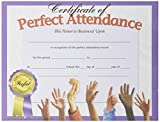 Hayes Perfect Attendance Certificate, 8-1/2 X 11