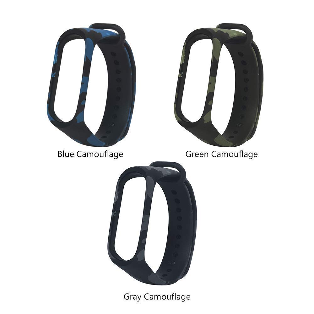 Amazon price history for BKN® Silicone Camouflage Army Style Band Strap Combo for Xiaomi Mi Band 3 Pack of 3(Device not Included)