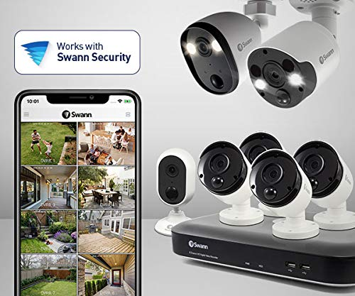 Swann Alert Indoor Security Camera Twin Pack, 1080p, Heat & Motion Sensing, 2-Way Talk, Audio Analytics and Siren, SWIFI-ALERTCAM