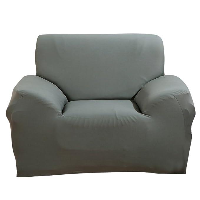 Paramount City ParaCity la silla del estiramiento de la cubierta 2 plazas Tela Funda Protector Funda Sillón 1 seater:90-140cm Gris