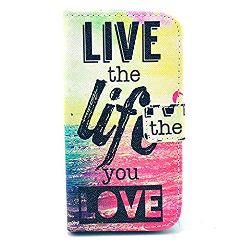 Galaxy Avant Case,IVY [Kickstand Flip Case] Galaxy Avant G386 Wallet Case [Live The Life You Love] Premium Soft TPU Synthetic Leather Flip Cover [Card],Wallet Case for Samsung Galaxy Avant G386T,Samsung Galaxy Core LTE 4G (Samsung Galaxy Core Lte Case G386)