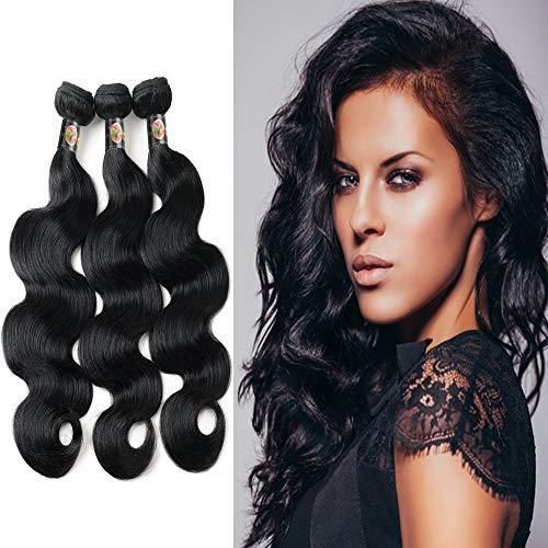Body Wave 3Pcs Bundles Lots 8A Real Virgin Raw Human Hair (8 10 12 ()
