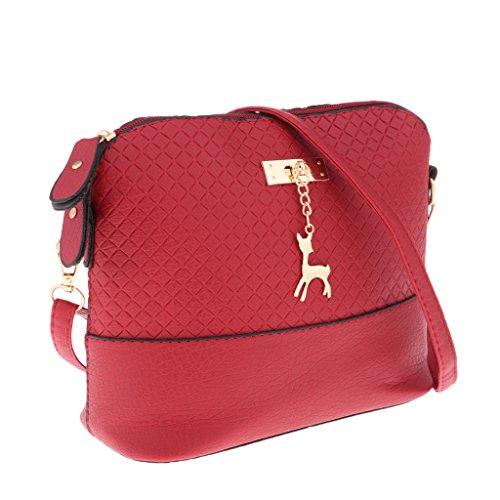 Broderie Mini À Rouge Bandoulière Main Sacoche Fille Sac Femme Cadeau D'embrayage Sharplace qXYCn