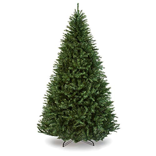 (Best Choice Products 7.5ft Premium Hinged Douglas Full Fir Artificial Christmas Tree Festive Holiday Decoration w/ 2254 Branch Tips, Easy Assembly, Foldable Metal Stand - Green )