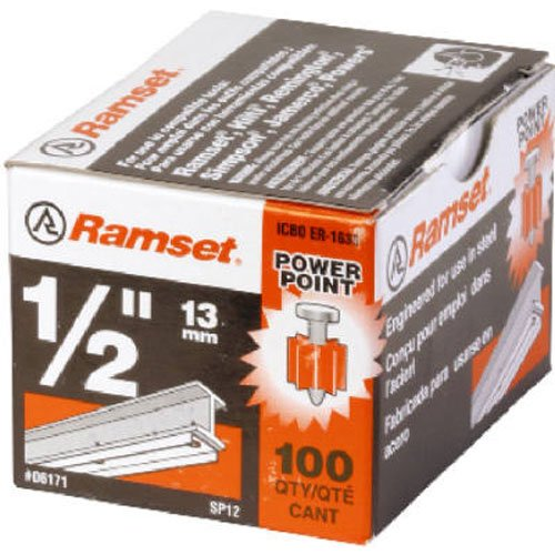 ITW Ramset ITW BRANDS 06171 1/2-Inch PowerPoint Pin, 100-...