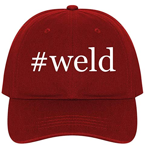 (#Weld - A Nice Comfortable Adjustable Hashtag Dad Hat Cap, Red)