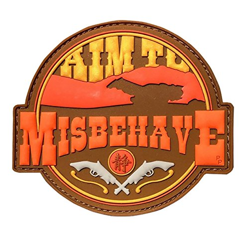 Patch Panel Firefly Aim to Misbehave PVC Tactical Morale Patch - Perfect Hook Backed Patches to be Added to Uniforms, Jackets, Backpacks (Firefly Kaylee Patches)