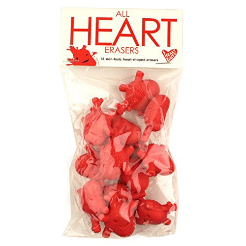 I Heart Guts All Heart Erasers - Bag of 12