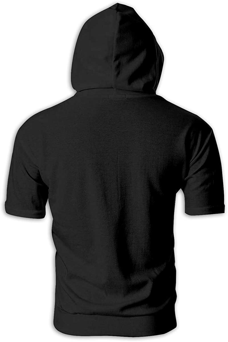 TRYOMWO Young Mens Short Sleeve Hoodie Trust The Process Casual Pullover Sweatshirt Top Hooded Shirt