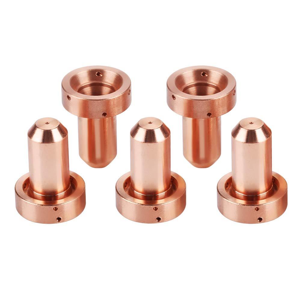 5 piezas 9-8207 Boquillas para antorcha de plasma Thermal Dynamics SL60 100 Zerone 5 piezas 9-8215 Electrodo