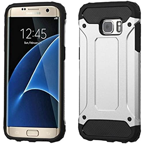 Asmyna Cell Phone Case for Samsung G935 (Galaxy S7 Edge) - Retail Packaging - Black/Silver Sales