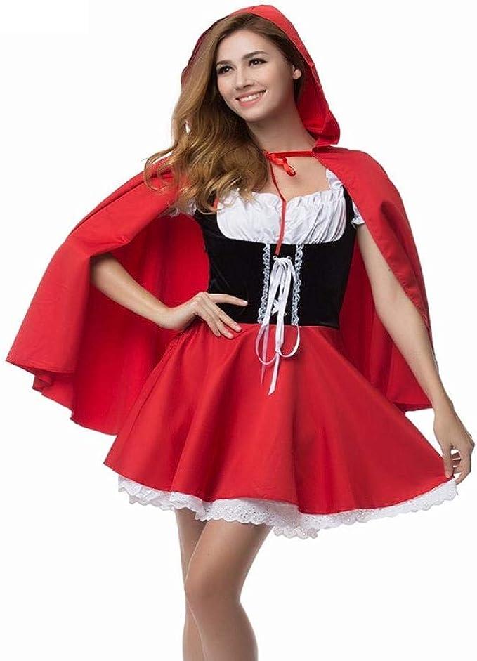 Ropa De Dormir Erotica Para Mujer Disfraz De Caperucita Roja Disfraz De Halloween Para Adultos Disfraces De Navidad Fantasia Feminina Tallas Grandes 6xl Amazon Es Ropa Y Accesorios