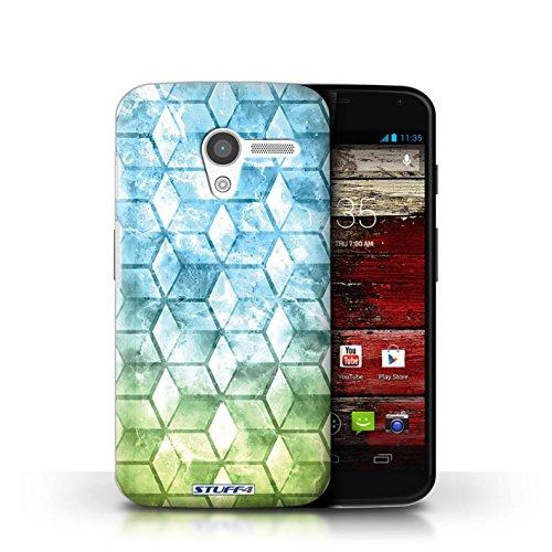 Coque de Stuff4 / Coque pour Motorola MOTO X / Bleu/verd Design / Cubes colorés Collection