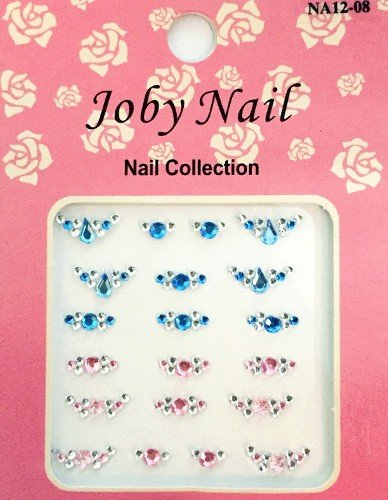 Nail Sticker/ Nail Art - Gemstone Collection - - Pink / Blue - Joby Nail