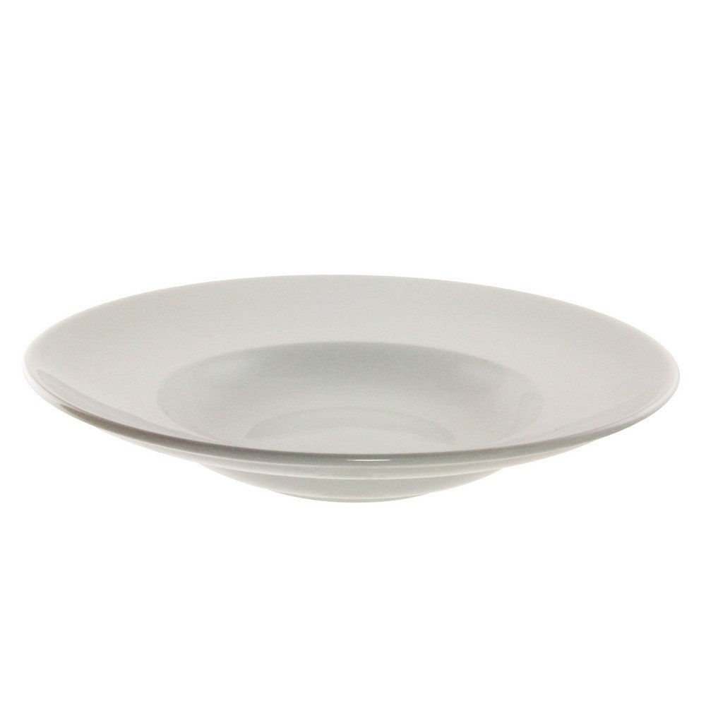 10 Strawberry Street Bistro 11.625''/16 Oz Rim Pasta Bowl, Set of 6, White