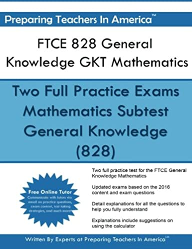 ftce 828 general knowledge gkt mathematics ftce general knowledge rh amazon com free ftce math study guide free ftce math study guide