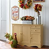 Country Kitchen Islands Brylanehome Country Kitchen Buffet (Yellow,0)