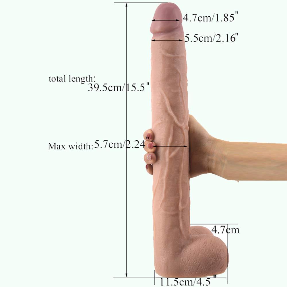 SYXL Dǐldo Giocattoli del Sesso Sesso Sesso della Barra di Massaggio di Climax del PVC della Tazza di aspirazione Potente Femminile di Dǐldo (39.5 * 5.6cm) (Colore : viola) fb1888