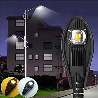 30W LED Warm White Road Street Flood Light Outdoor Walkway Garden Yard Lamp DC12V/AC85-265V
