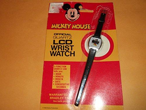 Mickey Mouse Quartz Lcd Wrist Watch