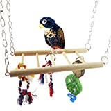 Parrot Toy Squirrel Hamster Swing Bird Toy Bridge Stairs Stands Molar Chew Train Toy (Ladder Length 8.67 inch, Width 3.74 inch)