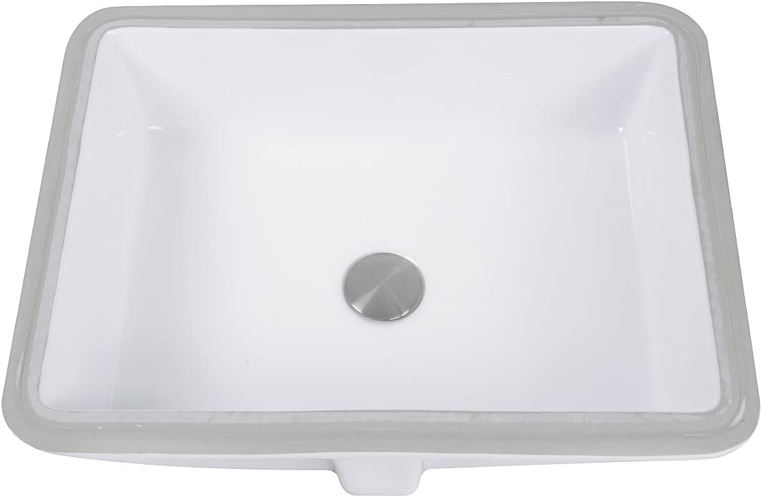 Nantucket Sinks Gb 17x13 W Glazed Bottom Undermount Rectangle Ceramic Sink 17 X 13 White Amazon Com