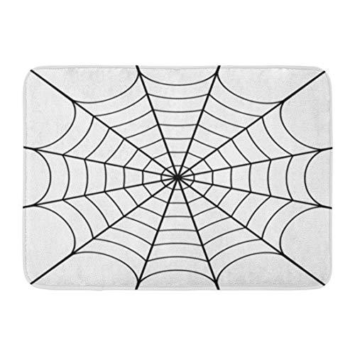 Emvency Doormats Bath Rugs Outdoor/Indoor Door Mat Spider of Cobweb Spiderweb Halloween Net Pattern Haloween Bathroom Decor Rug Bath Mat 16