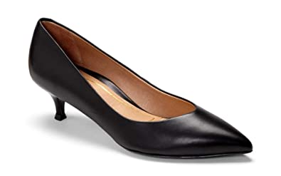 e272dcd080 Amazon.com | Vionic Women's Kit Josie Kitten Heel - Ladies Heels with  Concealed Orthotic Support | Shoes
