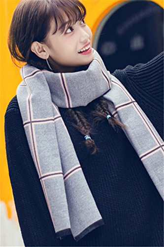 Generic New winter lovers Korean version spell color plaid scarf thick warm shawl scarves dual man boy and women girls lady students in Europe and America